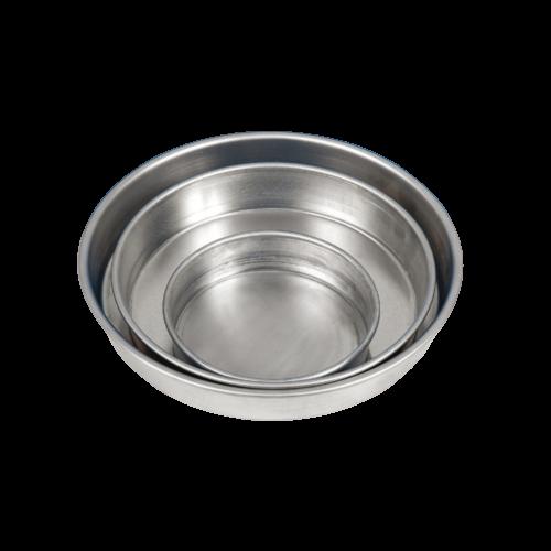 Tortiera tonda bordo alto in alluminio