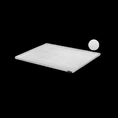 Teglia in alluminio forato con bordo di piega 2