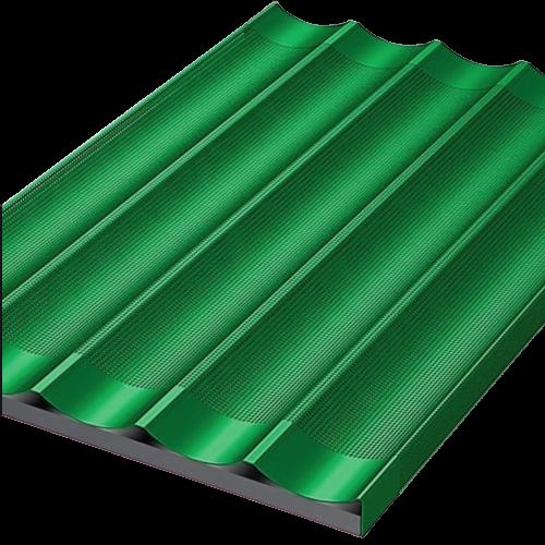 Teglia per baguette teflonata verde