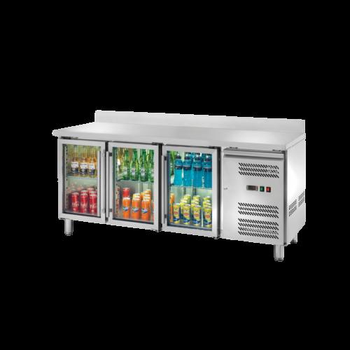 Banco refrigerato porta vetri alzatina 3204