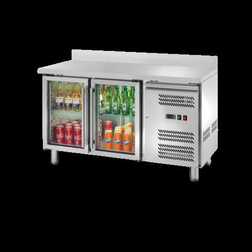 Banco refrigerato porta vetri alzatina 2204