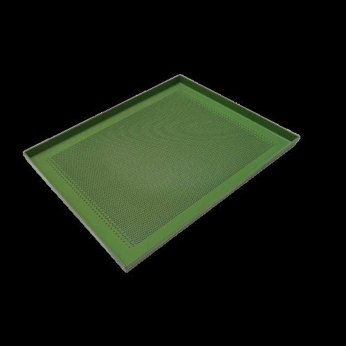 Teglia in alluminio forato teflonata verde