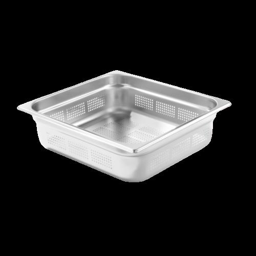 Contenitore Gastronorm 2/3 perforato in acciaio