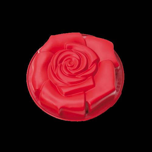 tortiera silicone - rosa fiorita