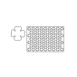 Placche per pasta frolla - Quadrifoglio