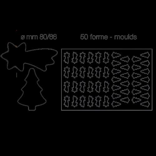 Placche per pasta frolla - Natale