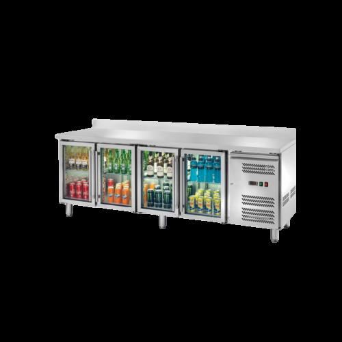 Banco refrigerato porta vetri alzatina 4204