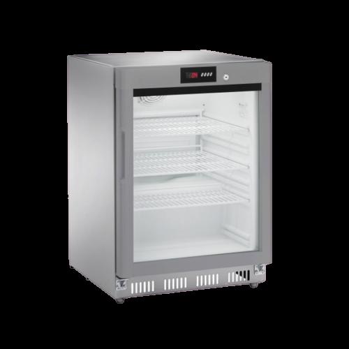 Armadio refrigerato statico digitale porta a vetri 200RG s.s