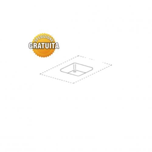 Vasca quadrata per tavoli inox