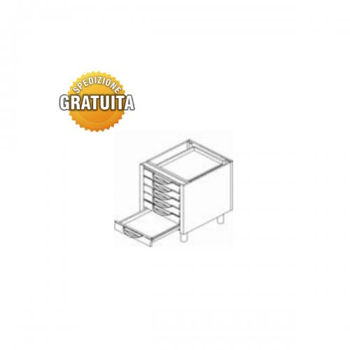 Cassettiera inox 6 cassetti